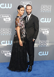 Maria Dolores Dieguez and Joseph Fiennes at the 23rd Annual Critics' Choice Awards held at the Barker Hangar in Santa Monica, USA on January 11, 2018.