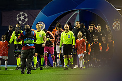 Players entering the pitch before football match between GNK Dinamo Zagreb and Manchester City in 6th Round of UEFA Champions league 2019/20, on December 11, 2019 in Maksimir, Zagreb, Croatia. Photo by Blaž Weindorfer / Sportida