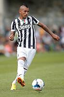 Arturo Vidal Juventus, Saint Vincent 17/7/2013 <br /> Partita amichevole Juventus vs Dilettanti Valdostani<br /> Football Calcio 2013/2014 Serie A<br /> Foto Marco Bertorello Insidefoto