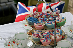 Cambridge, UK  29/04/2011. The Royal Wedding of HRH Prince William to Kate Middleton. Street Party Buns on display for afternoon tea in Cambridge city centre. Photo credit should read Jason Patel/LNP. Please see special instructions. © under license to London News Pictures
