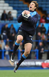Blaine Scully of Cardiff Blues warms up - Mandatory by-line: Nizaam Jones/JMP- 24/03/2018 - RUGBY - BT Sport Cardiff Arms Park- Cardiff, Wales - Cardiff Blues v Ulster Rugby - Guinness Pro 14