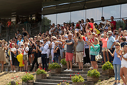 Belgian Supporters<br /> European Championship Children, Juniors, Young Riders - Fontainebleau 1028<br /> © Hippo Foto - Dirk Caremans<br /> Belgian Supporters