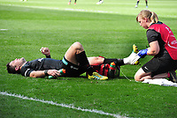 Rugby Union - 2018 / 2019 European Rugby Champions Cup - Semi-final - Saracens vs Munster<br /> <br /> Jamie George injury for Saracens At Allianz Park.<br /> <br /> Colorsport  / Andrew Cowie