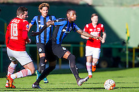 ESTEPONA - 07-01-2016, AZ in Spanje 7 januari, Club Brugge, 2-2, AZ speler Vincent Janssen, Club Brugge speler Stefano Denswil