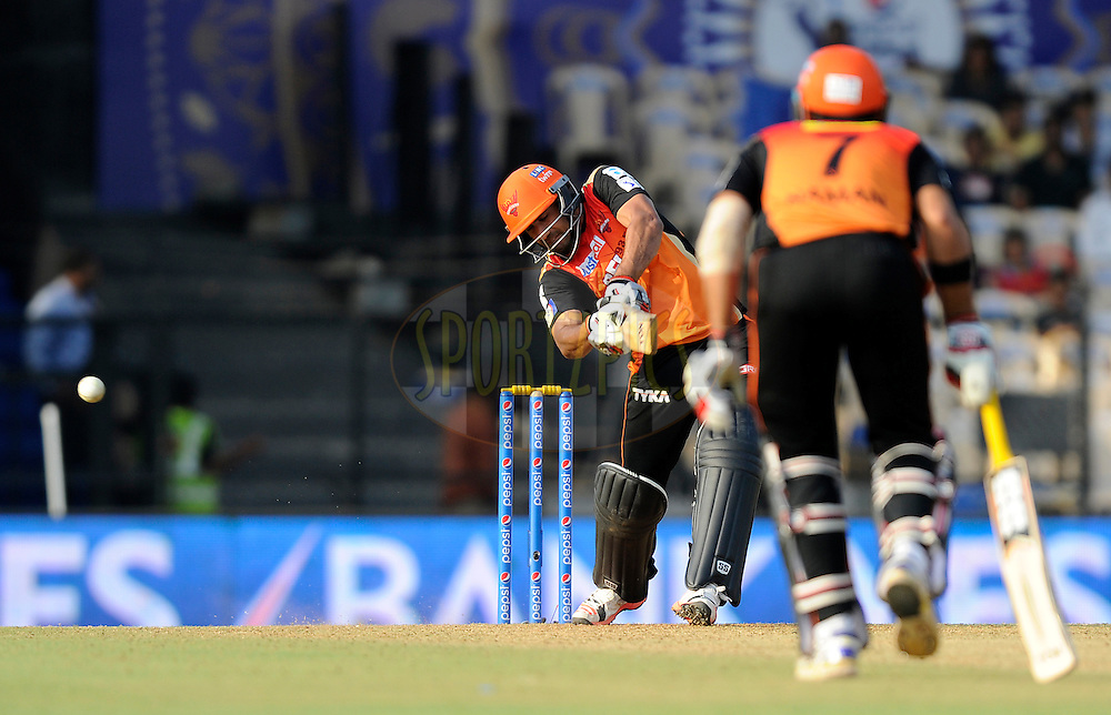 Ravi Bopara of Sunrisers Hyderabad bats during match 41 of the Pepsi IPL 2015 (Indian Premier League) between The Rajasthan Royals and The Sunrisers Hyderabad held at the Brabourne Stadium in Mumbai, India on the 7th May 2015.<br /> <br /> Photo by:  Pal Pillai / SPORTZPICS / IPL