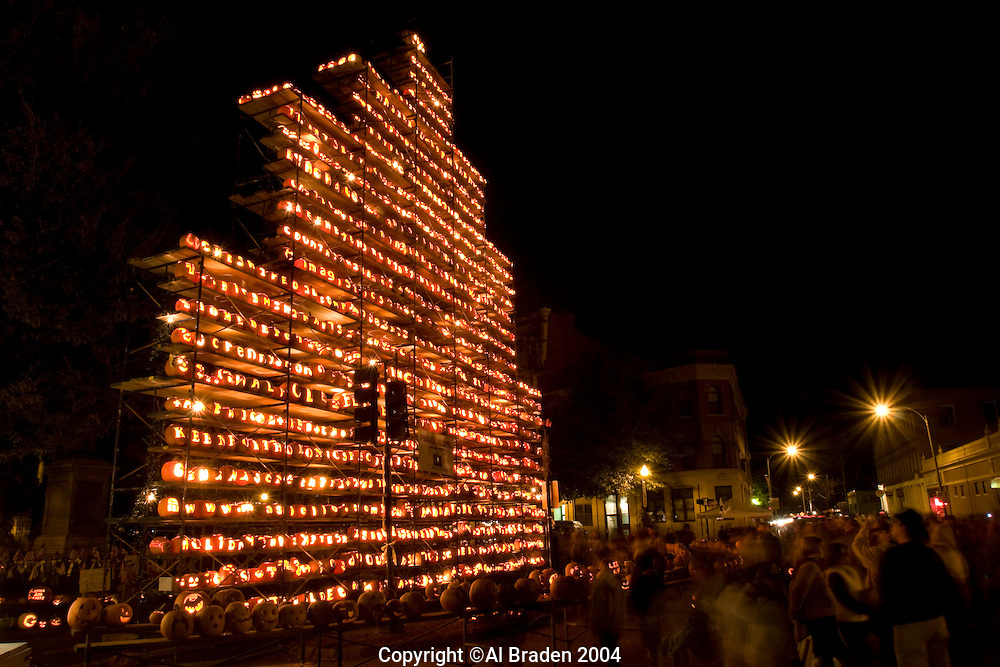 Jcak o Lantern Tower at Central Square, Keene Pumpkin Festival, Keene NH