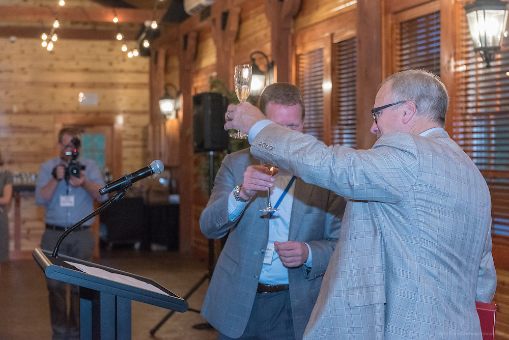 Dinner in the pavilion at the Pete Dye Golf Course for attendees of Lilly's Global Leadership Conference Wednesday, Aug. 24, 2016 at French Lick Springs Hotel in French Lick, Ind. (Photo by Brian Bohannon for Eli Lilly and Company)