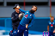 England ODI all rounder Moeen Ali bowls a delivery during the 3rd Royal London ODI match between England and India at Headingley Stadium, Headingley, United Kingdom on 17 July 2018. Picture by Simon Davies.