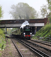 British Railways Merchant Navy Class 35028 Clan Line steam locomotive