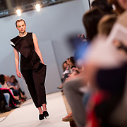 11.05. 2017.                                                 <br /> A model wears designs by Megan Murray, titled Linear Contrast at Limerick School of Art & Design, LIT, the LSAD 360°Fashion Show, sponsored by AIB. Picture: Alan Place