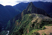 PERU: Inca Trail.The spectacular Incan Ruins of Machu Picchu