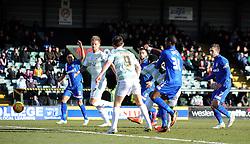 Yeovil Town's Gozie Ugwu scores his sides goal - Photo mandatory by-line: Harry Trump/JMP - Mobile: 07966 386802 - 21/02/15 - SPORT - Football - Sky Bet League One - Yeovil Town v Gillingham - Huish Park, Yeovil, England.
