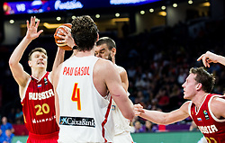 during basketball match between National Teams  Spain and Russia at Day 18 in 3rd place match of the FIBA EuroBasket 2017 at Sinan Erdem Dome in Istanbul, Turkey on September 17, 2017. Photo by Vid Ponikvar / Sportida