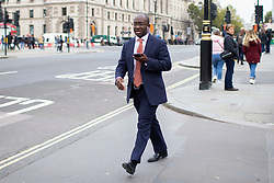 © Licensed to London News Pictures. 03/10/2019. London, UK. MP for East Surrey Sam Gyimah arrives at Parliament .  Later today Prime Minster Boris Johnson will make a statement in the House of Commons.  Photo credit: George Cracknell Wright/LNP