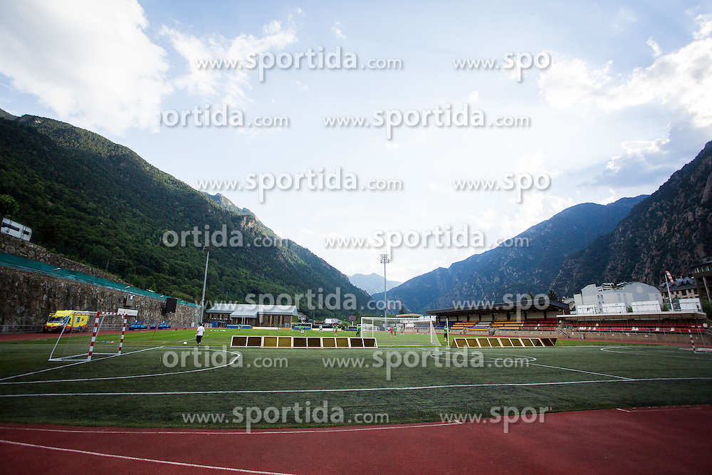 Andorra la Vella stadium during practice session before football match between NK Domzale and FC Lusitanos Andorra in second leg of UEFA Europa league qualifications on July 6, 2016 in Andorra la Vella, Andorra. Photo by Ziga Zupan / Sportida