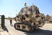The REAL road warriors: 'Mad Max' battle buses and tanks built by Kurdish fighters to repel ISIS soldiers in Syria <br /> <br /> Brave Kurdish soldiers battling Islamic State militants in northern Syria have converted tractors and lorries into tanks by adding metal plates to create Mad Max-style road warriors.<br /> <br /> The peshmerga troops were forced to take the initiative and create their own armoured vehicles after the far better equipped ISIS jihadists repeatedly got the better of the Kurds' Soviet-era military fleet.<br /> <br /> In recent weeks hundreds of thousands of Syrian Kurds have been forced to flee across the border into Turkey, as ISIS launched an onslaught into the autonomous Kurdish territory in northern Syria.<br /> <br /> Despite the odds being against them, peshmerga forces have bravely fought back against the estimated 31,000 ISIS militants operating in Syria and Iraq - whose self-declared 'caliphate' forms an area larger than Britain with a population of four million brutally oppressed citizens.<br /> <br /> In order to resist ISIS' high-tech firepower, the Kurdish forces have converted tractors and other farm equipment into heavily-armoured vehicles fitted aging Soviet-era guns.<br /> <br /> Previously troops from the People's Protection Units (YPG) in northern Syria had little more than rifles and flak jackets - making them incredibly vulnerable in the face of heavily-armed ISIS terrorists.<br /> <br /> Much of the weaponry and military equipment currently in the hands of the jihadists was gathered after thousands of members of the U.S. trained and expensively equipped Iraqi army melted away in the face of a lightning advance by just a few hundred ISIS militants in June.<br /> <br /> As the soldiers fled the scene, they left behind millions of pounds worth of top-of-the-range and barely used equipment - all of which was quickly swept up by ISIS.<br /> <br /> Since then the Kurdish peshmerga forces have carried out the defence of much of northern Syria and Iraq, despite the fact many of the militants only know how to operate clunky, decades-old