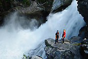 Destroyer Films' Chris Griffiths and Cody Bradley. Nairn Falls, British Columbia