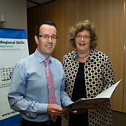 07.09. 2017.                             <br /> Attending the Regional Skills Mid West Apprenticeship Briefing at the Radisson Hotel were, Joe Leddin, Manager Regional Skills and Senator Maria Byrne. Picture: Alan Place
