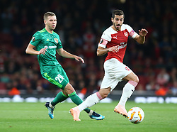 September 20, 2018 - London, England, United Kingdom - Arsenal's Henrikh Mkhitaryan.during UAFA Europa League Group E between Arsenal and FC Vorskla Poltava at Emirates stadium , London, England on 20 Sept 2018. (Credit Image: © Action Foto Sport/NurPhoto/ZUMA Press)