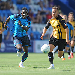 TELFORD COPYRIGHT MIKE SHERIDAN 4/8/2018 - Amari Morgan-Smith gives chase during the National League North fixture between AFC Telford United and Southport FC.