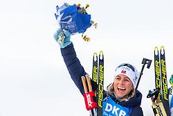 March 10, 2019 - –Stersund, Sweden - 190310 Tiril Eckhoff of Norway celebrates her second place after the Women's 10 km Pursuit during the IBU World Championships Biathlon on March 10, 2019 in Östersund..Photo: Petter Arvidson / BILDBYRÃ…N / kod PA / 92254 (Credit Image: © Petter Arvidson/Bildbyran via ZUMA Press)