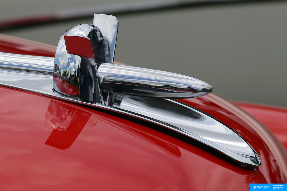 The emblem of 1953 Buick Skylark at the Greenwich Concours d'Elegance Festival of Speed and Style featuring great classic vintage cars. Roger Sherman Baldwin Park, Greenwich, Connecticut, USA.  2nd June 2012. Photo Tim Clayton