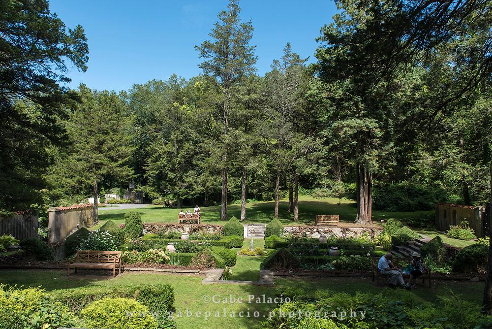 Sunken Garden at Caramoor in Katonah New York on September 13, 2017. <br /> (photo by Gabe Palacio)