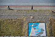 Nederland, the Netherlands, Kornwerderzand, 22-2-2018 De Afsluitdijk zal de komende jaren aanpassingen krijgen om de verwachte zeespiegelstijging en extreem weer het hoofd te kunnen bieden . Foto: Flip Franssen