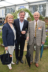 PIERS MORGAN and his mother & step father at the 2015 RHS Chelsea Flower Show at the Royal Hospital Chelsea, London on 18th May 2015.