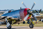 A P47 Thunderbolt taxis for take off - Duxford Battle of Britain Air Show at the Imperial War Museum. Also commemorating the 50th anniversary of the 1969 Battle of Britain film. It runs on Saturday 21 & Sunday 22 September 2019