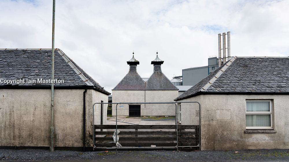 Port Ellen Distillery on island of Islay in Inner Hebrides of Scotland, UK