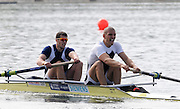 Eton, United Kingdom.  Men's Pair, Bow James FOAD and Mo SBIHI  Sat. time trial.  2011 GBRowing Trials, Dorney Lake. Saturday  16/04/2011  [Mandatory Credit; Peter Spurrier/Intersport-images] Venue For 2012 Olympic Regatta and Flat Water Canoe events.