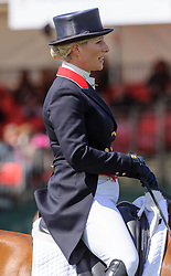 Zara Phillips and HIGH KINGDOM - The Dressage phase of the Mitsubishi Motors Badminton Horse Trials, Saturday May 4th 2013. Photo by:  Nico Morgan / i-Images