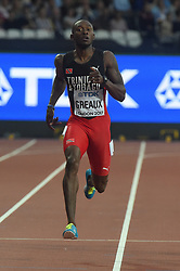 August 7, 2017 - London, England, United Kingdom - Kyle GREAUX, Trinidad tobago, , during 200 meter heats in London on August 7, 2017 at the 2017 IAAF World Championships athletics. (Credit Image: © Ulrik Pedersen/NurPhoto via ZUMA Press)