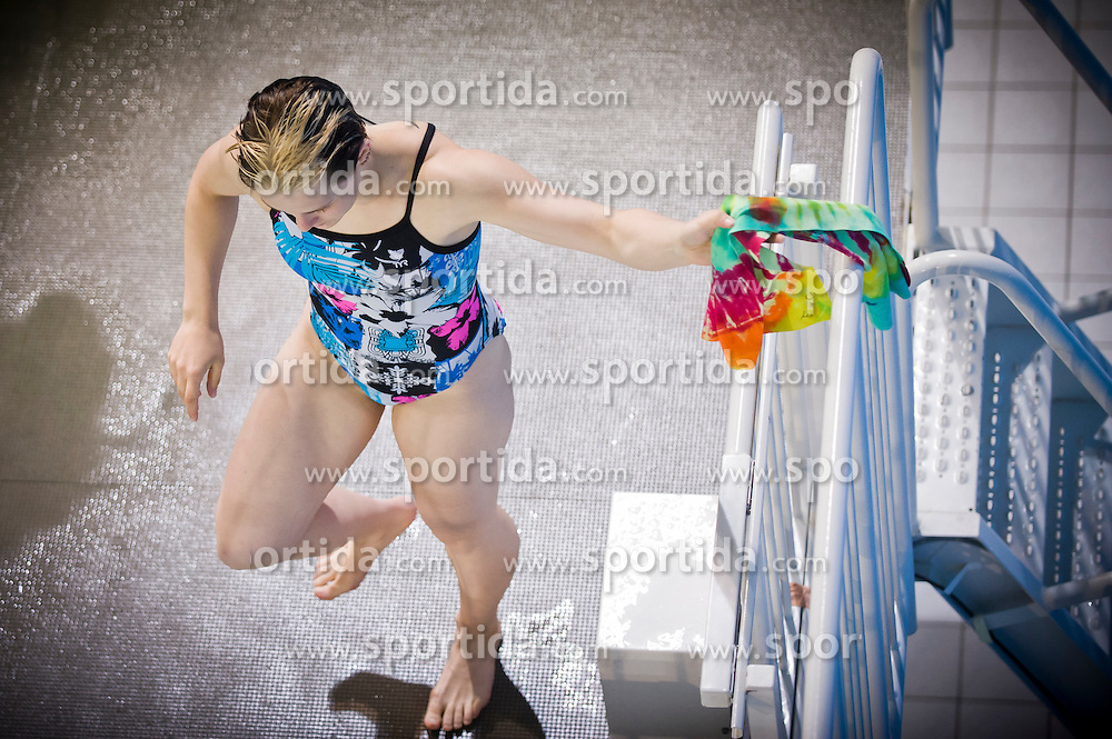 19.05.2012, Pieter van den Hoogenband Swimming Stadium, Eindhoven, NED, LEN, Turmspring Europameisterschaft 2012, Damen, 3 Meter Springbrett, im Bild Nora Subschinsky (GER) // during Women's 3m springboard - preliminary of LEN Diving European Championships at Pieter van den Hoogenband Swimming Stadium, Eindhoven, Netherlands on 2012/05/19. EXPA Pictures © 2012, PhotoCredit: EXPA/ Insidefoto/ Giorgio Perottino..***** ATTENTION - for AUT, SLO, CRO, SRB, SUI and SWE only *****