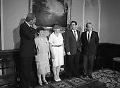 1987 - Annie Maguire Meets An Tanaiste, Brian Lenihan.  (R61).