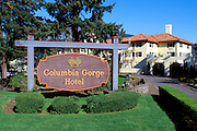 The historic Columbia Gorge Hotel (National Historic Landmark), Hood River, Oregon
