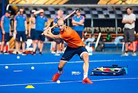 BHUBANESWAR (INDIA) -  Het Nederlands team trainde vanmorgen licht voor de wedstrijd tegen Canada bij het WK Hockey heren. Billy Bakker (Ned)     COPYRIGHT  KOEN SUYK