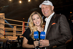 12.03.2016, Jahnsportforum, Neubrandenburg, GER, Boxgala, WBA Weltmeisterschaftskampf, im Bild v.l. Andrea Kaiser, Axel Schulz // during the WBA Light Heavyweight World Championship Boxgala at the Jahnsportforum in Neubrandenburg, Germany on 2016/03/12. EXPA Pictures © 2016, PhotoCredit: EXPA/ Eibner-Pressefoto/ Koch<br /> <br /> *****ATTENTION - OUT of GER*****