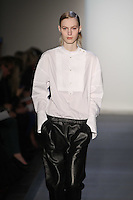 Julia Nobis walks down runway in F2012 Peter Som's collection, New York, Feb 10, 2012