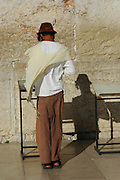 Jews praying at The Wailing Wall, Jerusalem, Israel