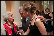 LADY AIRLIE; NICKY HASLAM; MAUREEN FOOTER, Nicky Haslam hosts a party to launch a book by  Maureen Footer 'George Stacey and the Creation of American Chic' . With a foreword by Mario Buatta. Kensington. London. 11 June 2014
