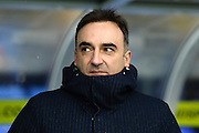 Sheffield Wednesday head coach Carlos Carvalhal during the Sky Bet Championship match between Birmingham City and Sheffield Wednesday at St Andrews, Birmingham, England on 6 February 2016. Photo by Jon Hobley.
