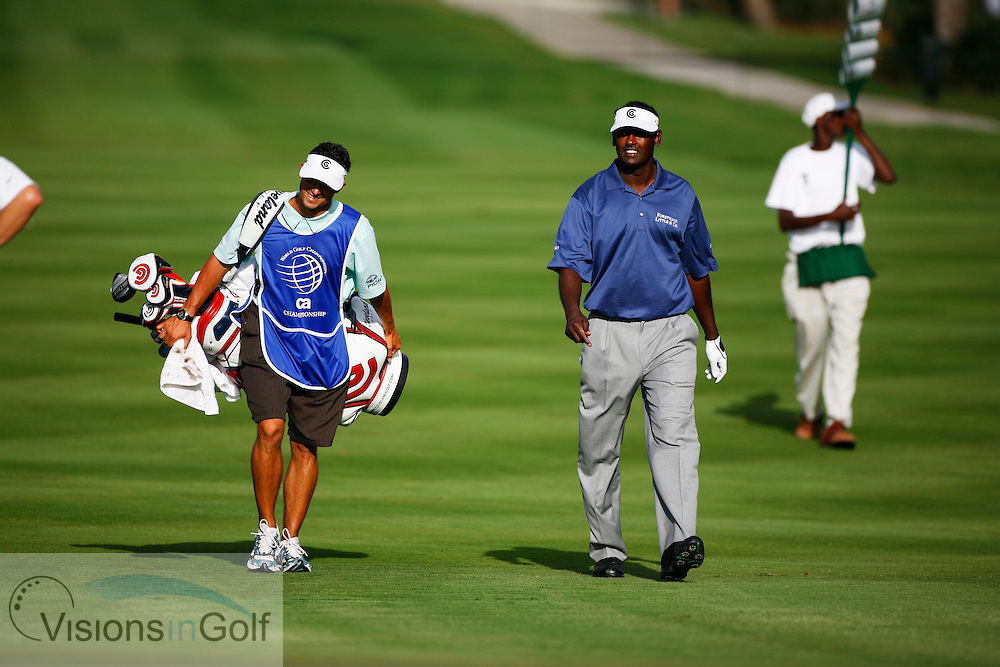 Vijay Singh on the final day of the WGC CA Championship, Doral, Blue monster GC, Florida USA. March 2007. <br /> Picture Credit:   Mark Newcombe / visionsingolf.com
