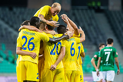 Players of NK Domzale during football match between NK Olimpija and NK Domzale in 2nd Round of Prva liga Telekom Slovenije 2019/20, on July 21st, 2019, in Stadium Stozice, Ljubljana, Slovenia. Photo by Grega Valancic / Sportida