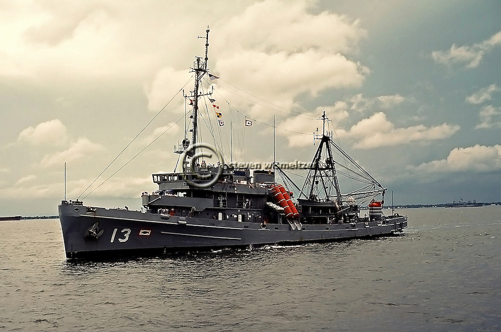 1950s view port side, USS Kittiwake