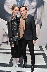 SOFIA SANCHEZ DE BETAK and ALEXANDRE DE BETAK at a dinner to celebrate the exclusive Capsule collection: Maison Michel by Karl Lagerfeld held at Selfridges, 400 Oxford Street, London on 23rd February 2015.