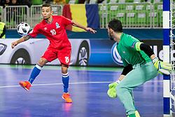 Vassoura of Azerbaijan during futsal match between France and Azerbaijan at Day 4 of UEFA Futsal EURO 2018, on February 2, 2018 in Arena Stozice, Ljubljana, Slovenia. Photo by Urban Urbanc / Sportida