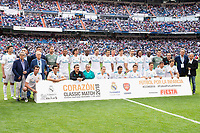 Real Madrid Legends during Corazon Classic Match between Real Madrid Legends and Arsenal Legends at Santiago Bernabeu Stadium in Madrid, Spain. June 03, 2018. (ALTERPHOTOS/Borja B.Hojas)