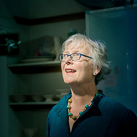 Griselda Hill, master potter, artist and producer of Wemyss Ware in Cupar, Fife<br />